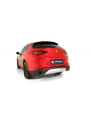 Resonated RACING cat-back system for Alfa Romeo Stelvio Q4 (selectable tail pipes), without EC homologation