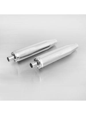 2x CUSTOM exhaust chrome no cat. no endcap, EG/ABE/EEC