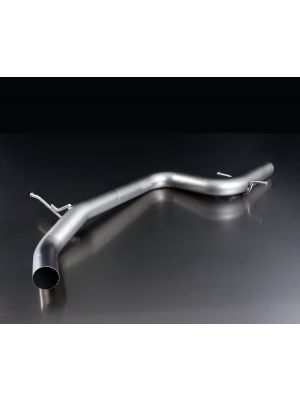 Racing tube instead of front silencer, without homologation