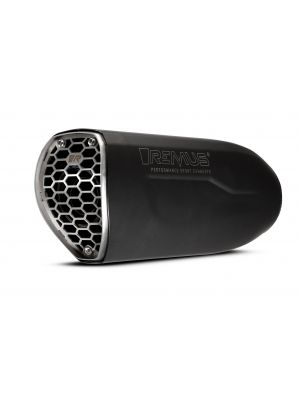 Slip-On REMUS NXT (sport silencer), stainless steel black, incl. ECE type approval